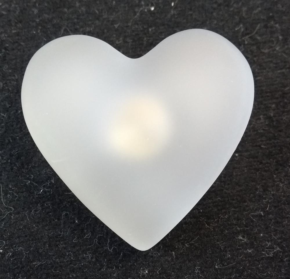 Möbelknopf Herz kristall matt 45mm