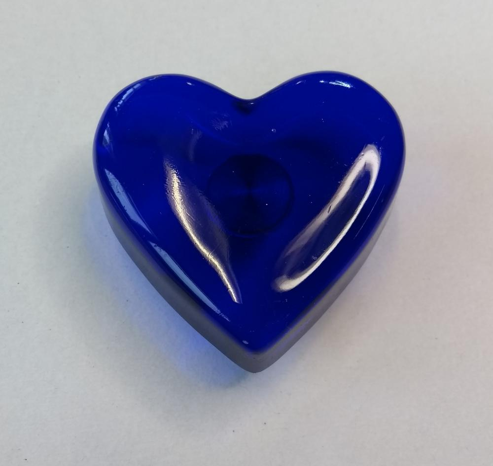 Möbelknopf Herz blau 45mm