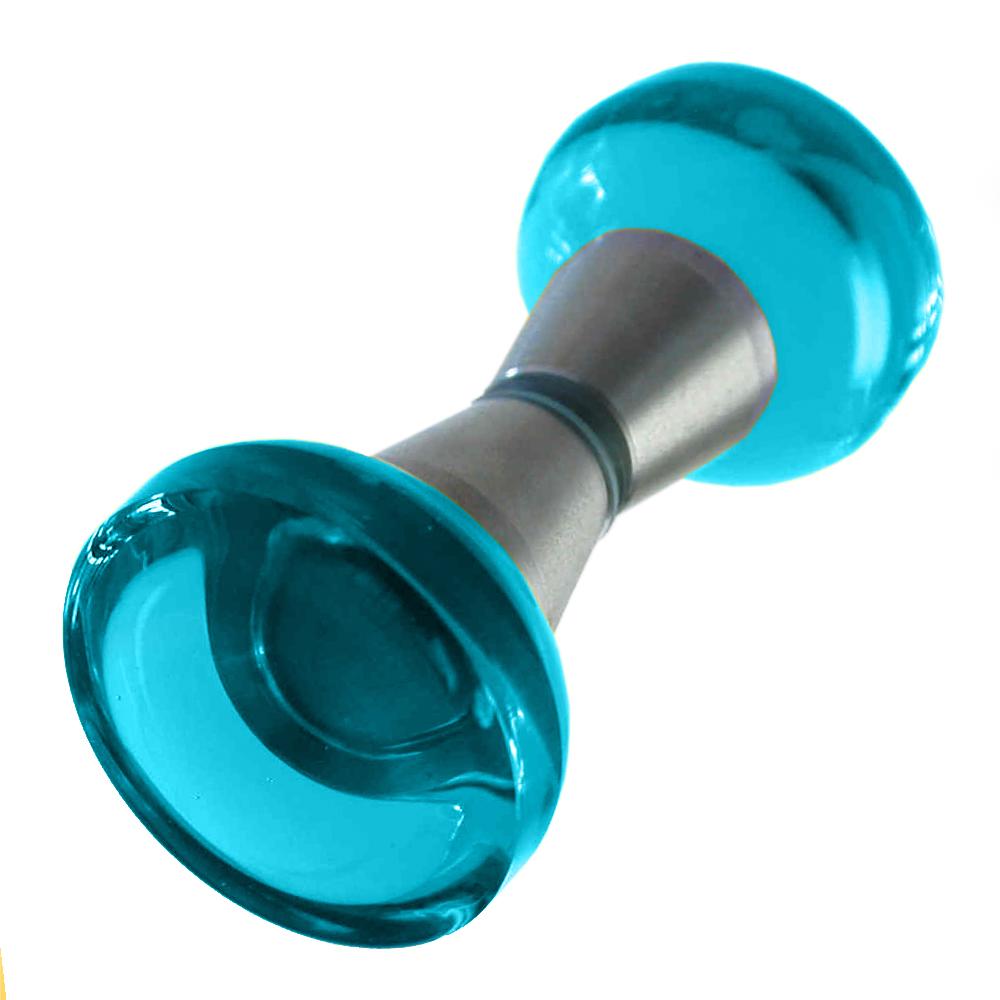Duschtürgriffe türkis 40mm Set