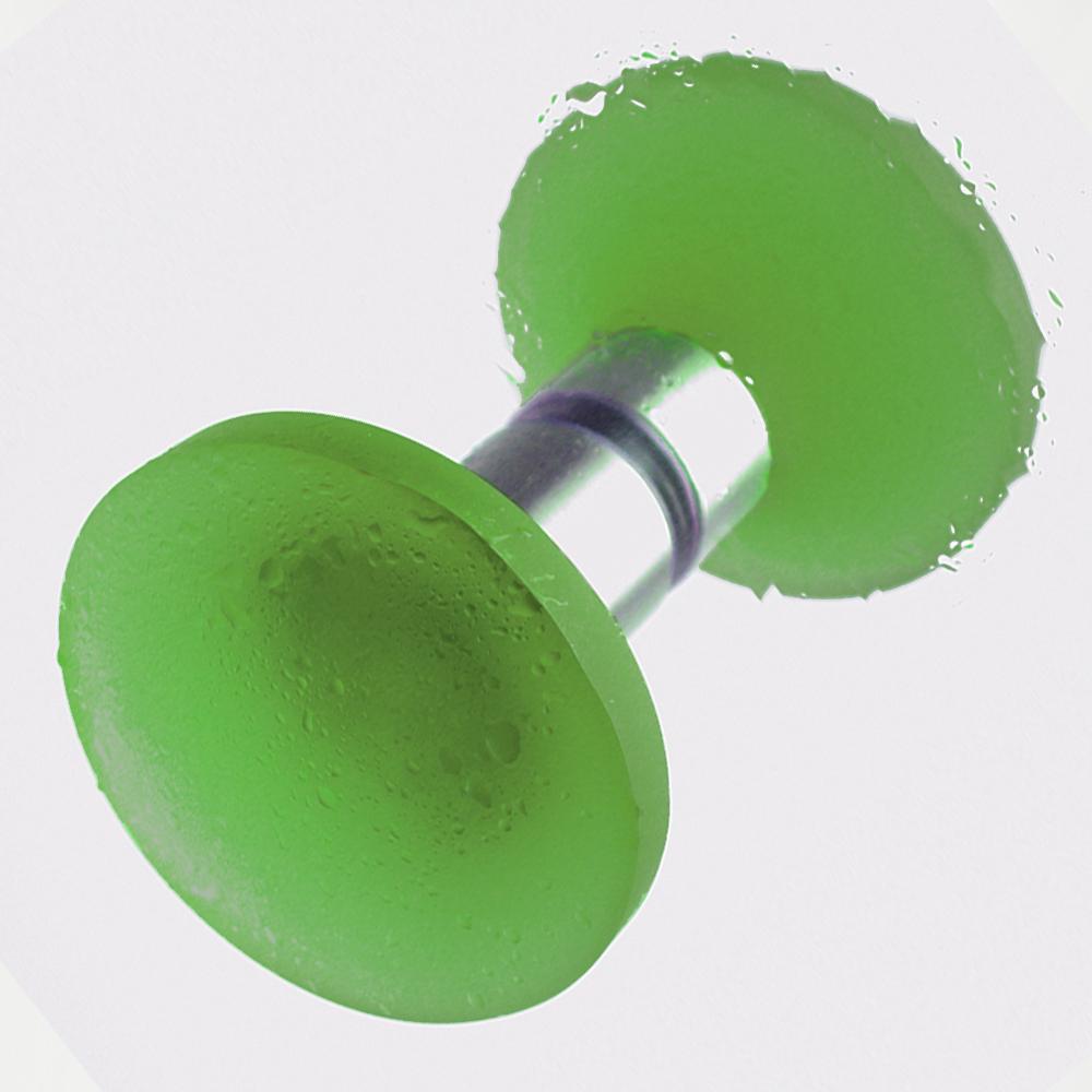 Griff Duschtür dunkelgrün 50mm Set