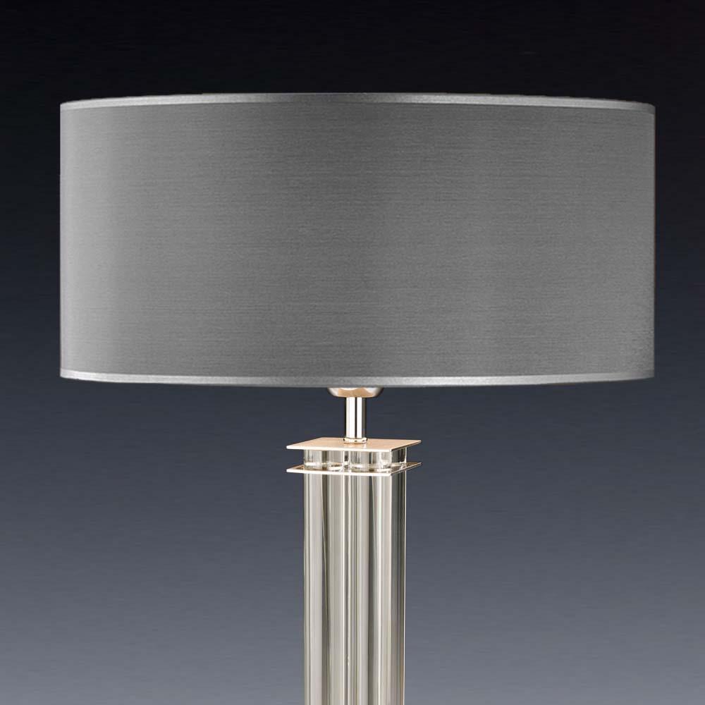 lampenschirm grau rund 50 x 20 cm online shop direkt vom hersteller. Black Bedroom Furniture Sets. Home Design Ideas