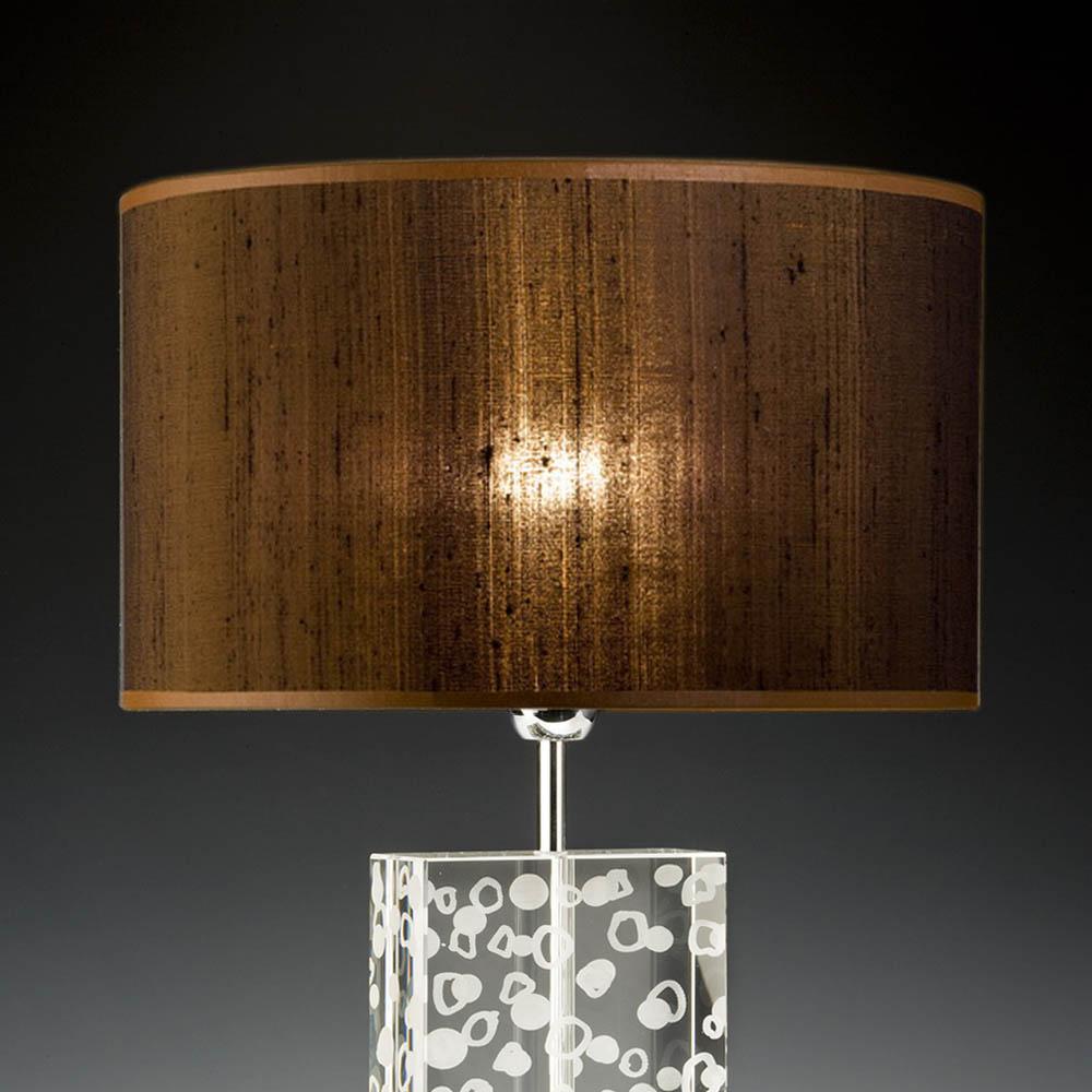 lampenschirm braun rund 40 x 20 cm wildseide online shop direkt vom hersteller. Black Bedroom Furniture Sets. Home Design Ideas