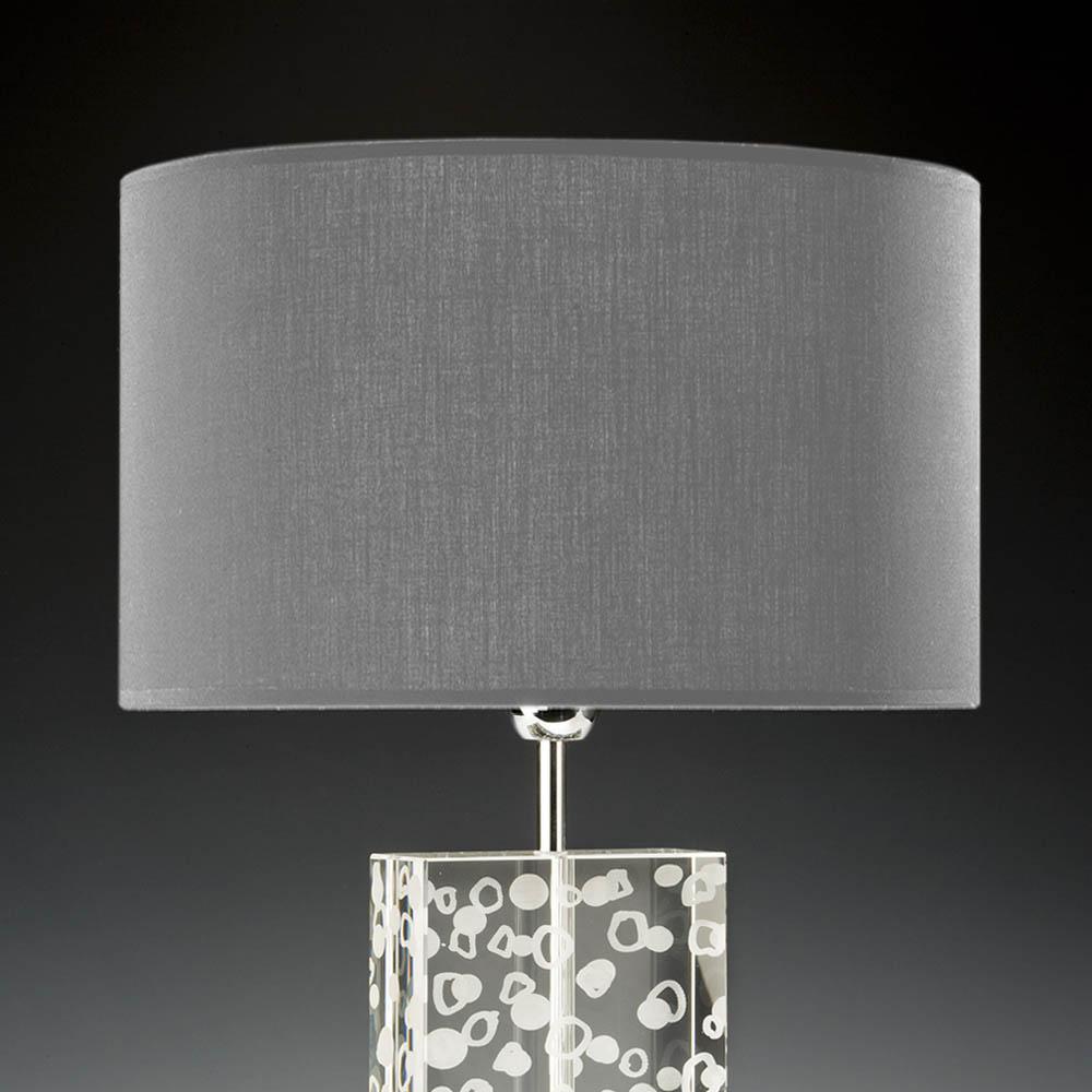 lampenschirm grau rund 35 x 20 cm online shop direkt vom hersteller. Black Bedroom Furniture Sets. Home Design Ideas