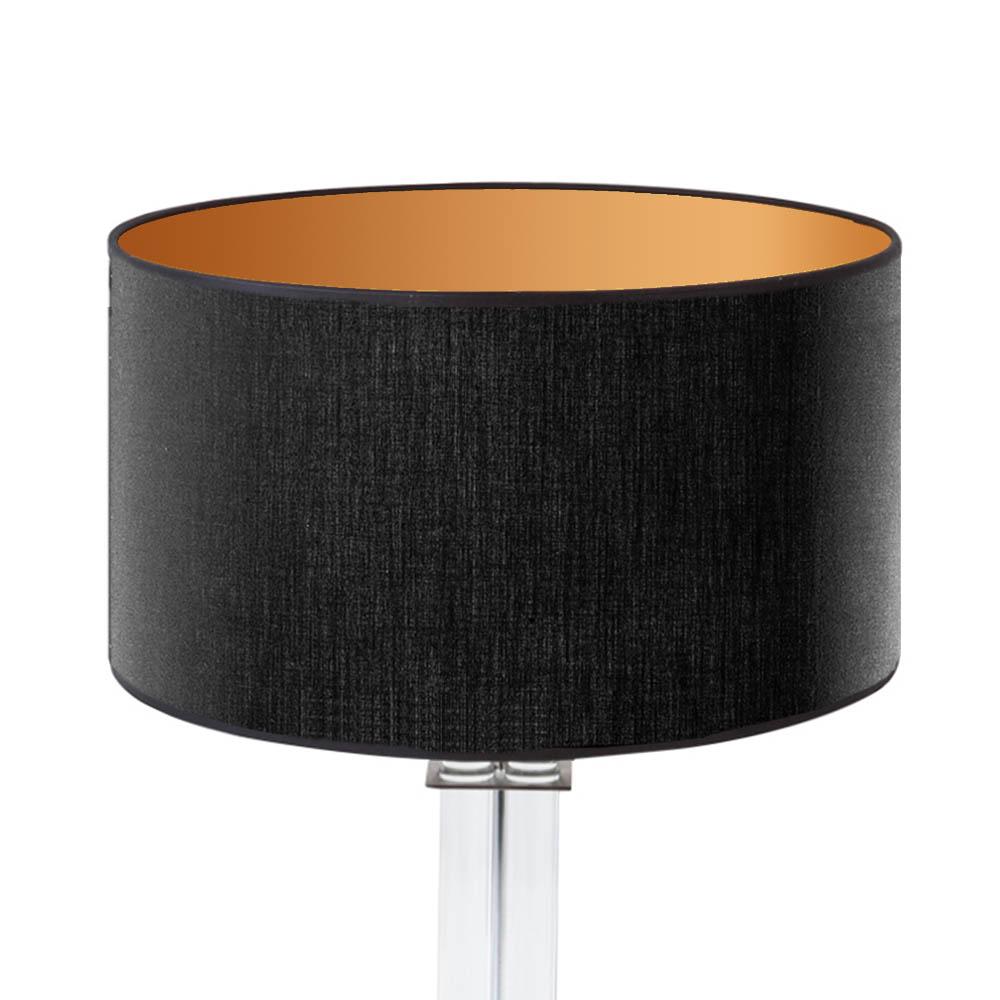 Lampenschirm 40 Cm : lampenschirm schwarz gold rund 40 x 20 cm online shop direkt vom hersteller ~ Pilothousefishingboats.com Haus und Dekorationen
