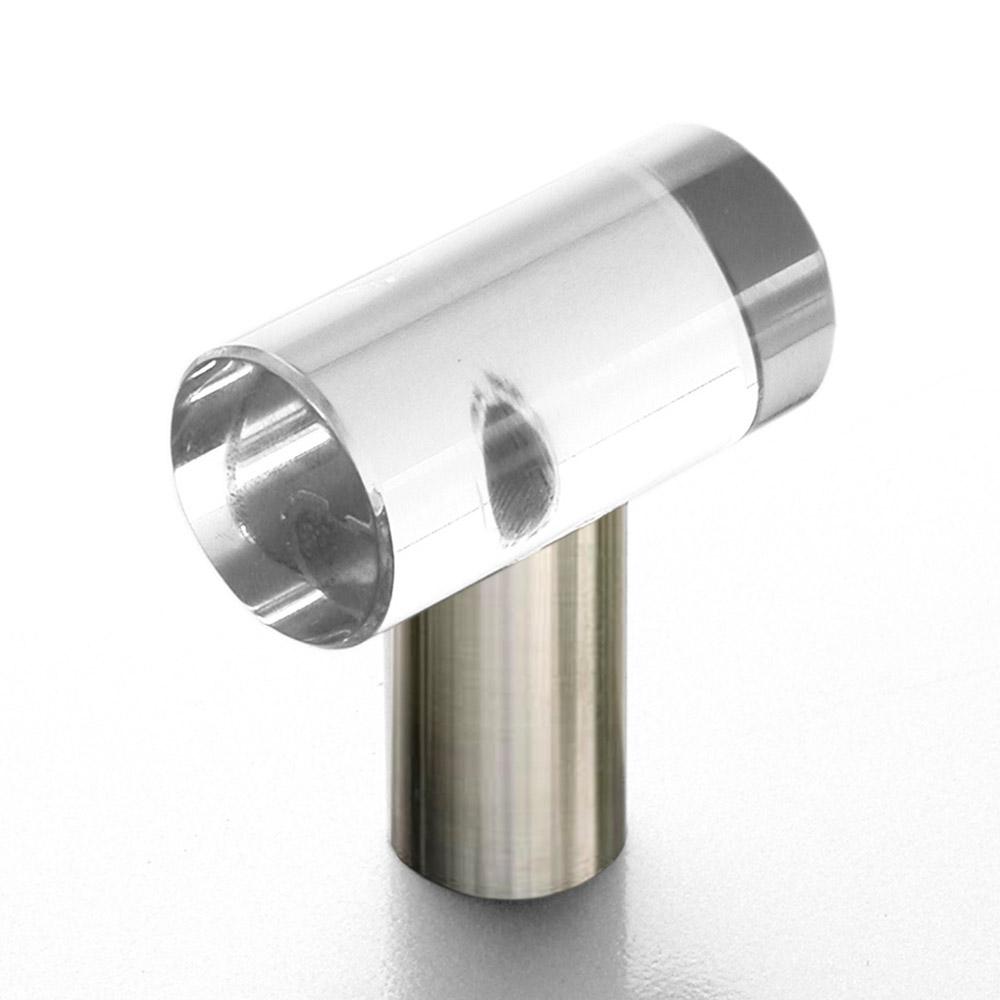 Möbelgriff Edelstahl Glas 35mm