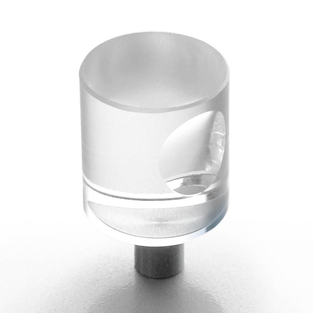 Möbelknopf Edelstahl Glas 20mm
