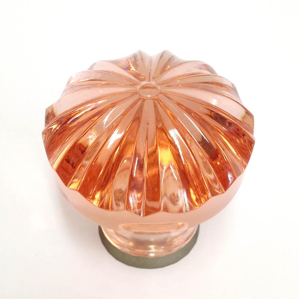 Möbelknopf rosé 36mm gerippt