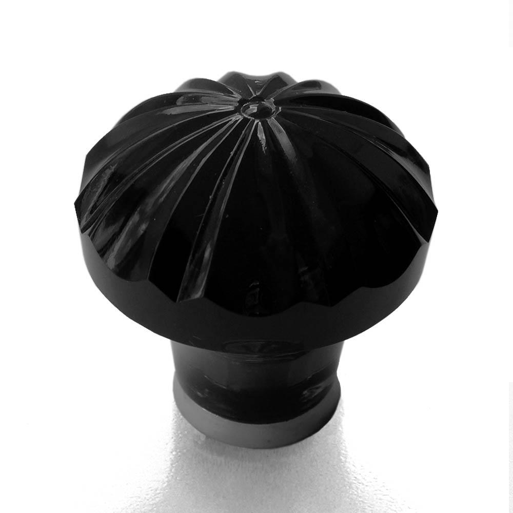 Möbelknopf schwarz 36mm gerippt