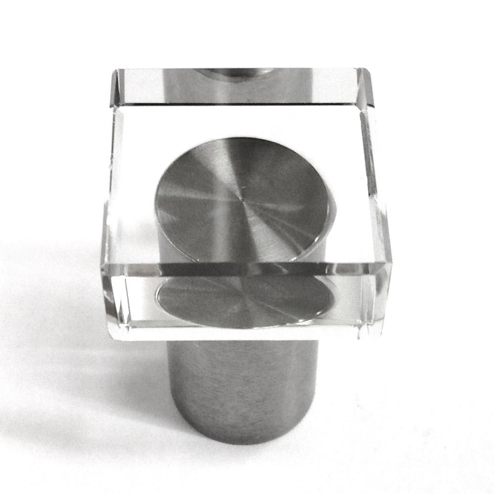 Möbelgriff Edelstahl Glas 20mm