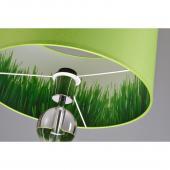 Lampenschirm kale grün/dekor rund 35 x 20 cm