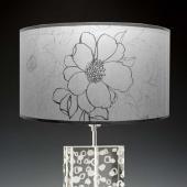 Lampenschirm grau transparent 40 x 20 cm Blumendekor