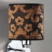 Lampenschirm schwarz braun rund 16 x 16 cm