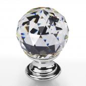 Möbelknopf Kristall Chrom 30mm