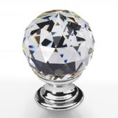 Möbelknopf Kristall Chrom 35mm