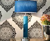Tischleuchte TUBE türkis blau