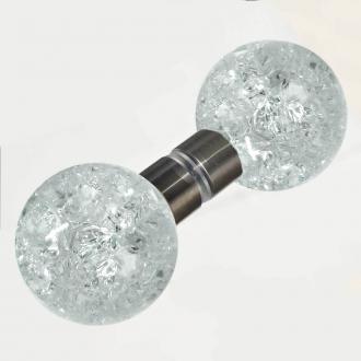 Duschtürgriffe Kugel krakelee 50mm Set