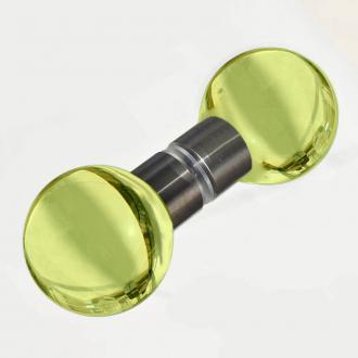 Duschtürgriff Kugel hellgrün 40mm Set