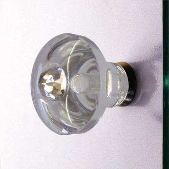 Glastürgriffe Kristall 36mm Set