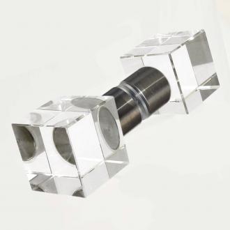 Duschtürgriffe Glaswürfel 30mm Set
