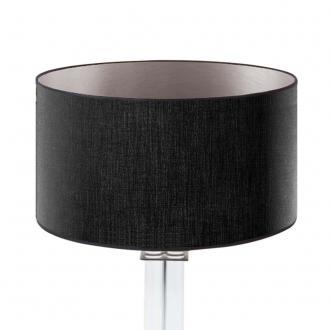 lampenschirm schwarz silber rund 40 x 20 cm online shop direkt vom hersteller. Black Bedroom Furniture Sets. Home Design Ideas