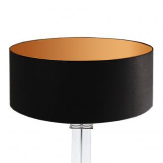lampenschirm schwarz gold rund 50 x 20 cm online shop. Black Bedroom Furniture Sets. Home Design Ideas