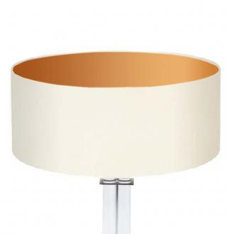 lampenschirm wei gold rund 50 x 20 cm online shop direkt. Black Bedroom Furniture Sets. Home Design Ideas