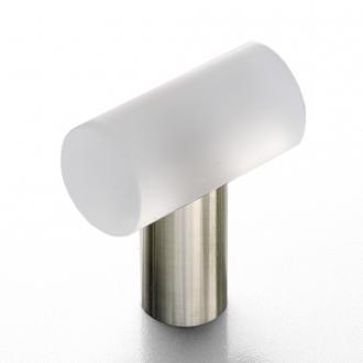 Möbelgriff Edelstahl Glas matt 35mm