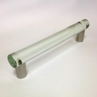 Möbelgriff Edelstahl Glas 184mm
