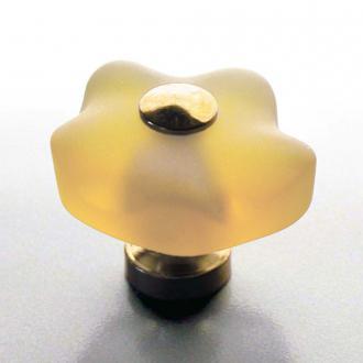 Möbelknauf Blume Champagner 36mm