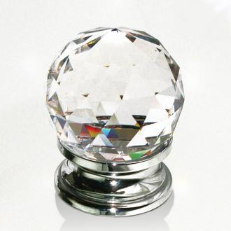 Möbelknopf Kristall Chrom 40mm
