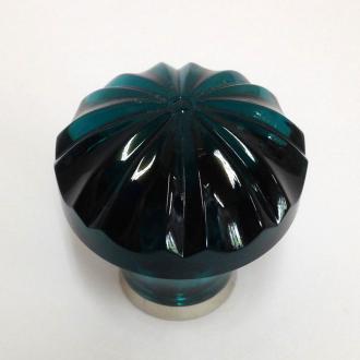 Möbelknopf grün 36mm gerippt