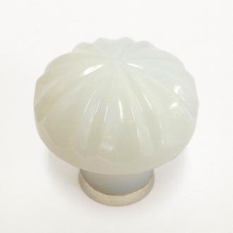 Möbelknopf opal weiß 36mm gerippt