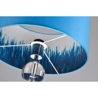 Lampenschirm blau/dekor rund 35 x 20 cm