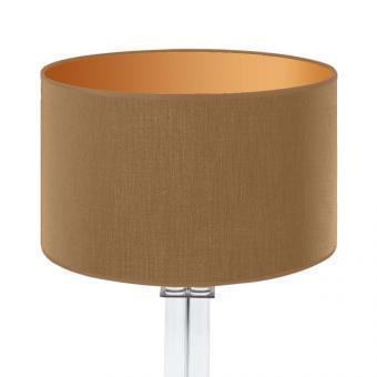 Lampenschirm gold/gold matt rund 35 x 20 cm