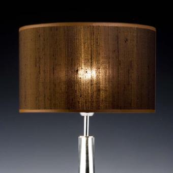 Lampenschirm braun Seide rund 35 x 20 cm