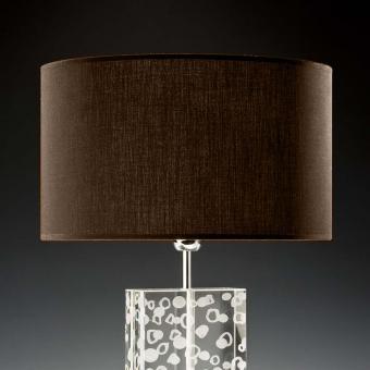 Lampenschirm dunkelbraun rund 35 x 20 cm