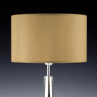 Lampenschirm gold rund 35 x 20 cm Seide