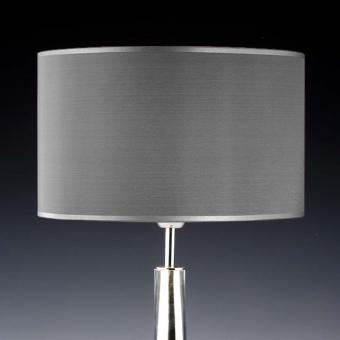 Lampenschirm grau Seide rund 35 x 20 cm