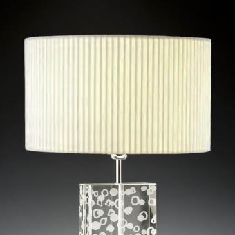 Lampenschirm creme rund Plissee 40 x 20 cm