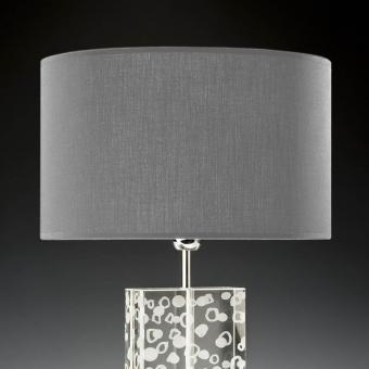 Lampenschirm grau rund 35 x 20 cm