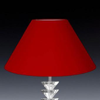 Lampenschirm rund rot konisch 45 x 27 x 18cm