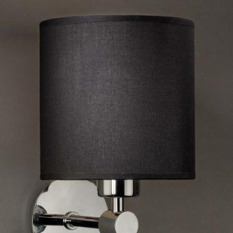 Lampenschirm schwarz rund 16 x 16 cm