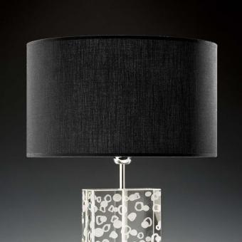 Lampenschirm schwarz rund 35 x 20 cm
