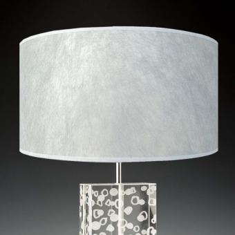 Lampenschirm silber 40 x 20 cm edles Japanpapier