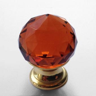 Möbelknopf Kristall bernstein 25mm