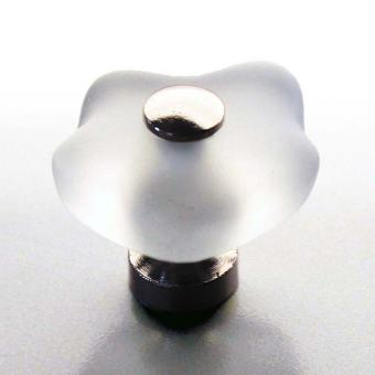 Möbelknopf Blume 36mm Chrom