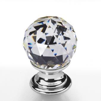 Möbelknopf Kristall Chrom 25mm