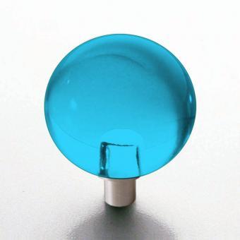 Möbelknopf türkis Kugel 25mm