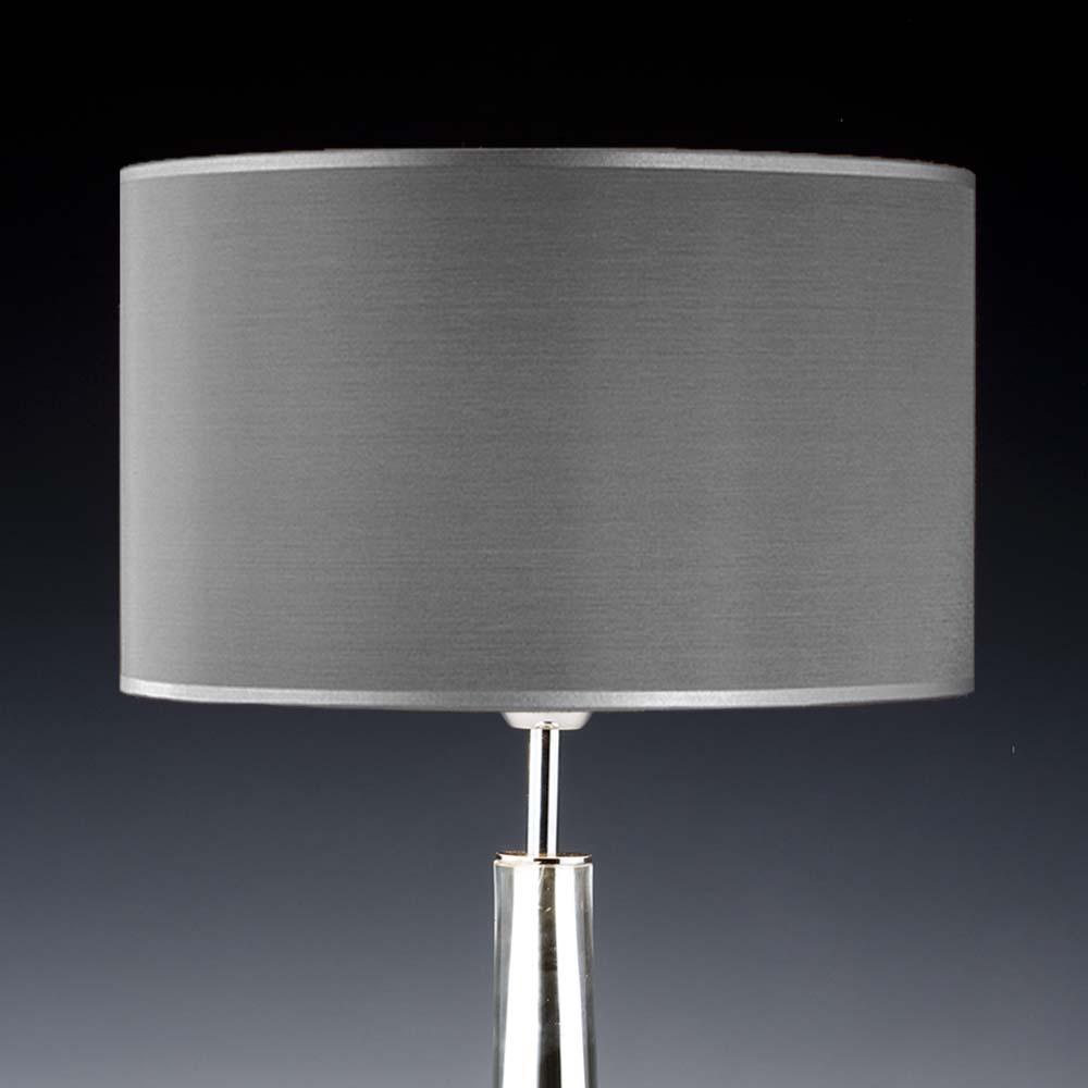 Lampenschirm Grau Seide Rund 35 X 20 Cm Online Shop Direkt Vom Hersteller