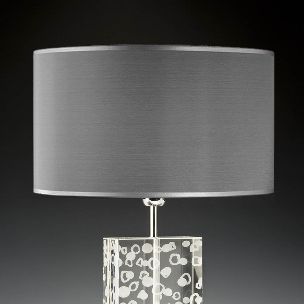lampenschirm grau rund 40 x 20 cm seide online shop direkt. Black Bedroom Furniture Sets. Home Design Ideas